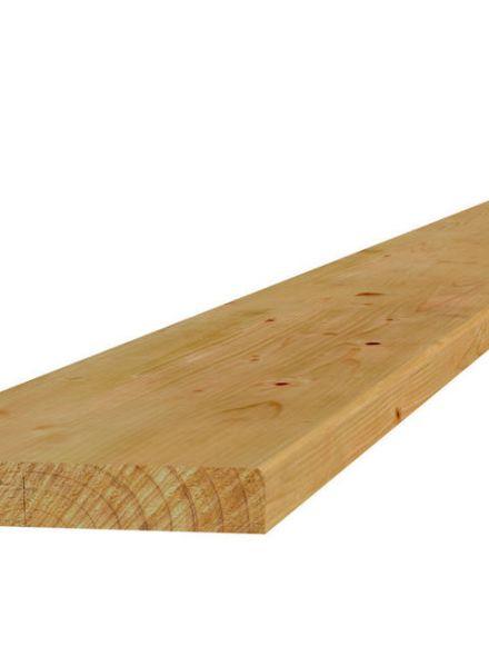 Grenen vlonderplank 400 cm geschaafd / fijnbezaagd (Art. 06510)