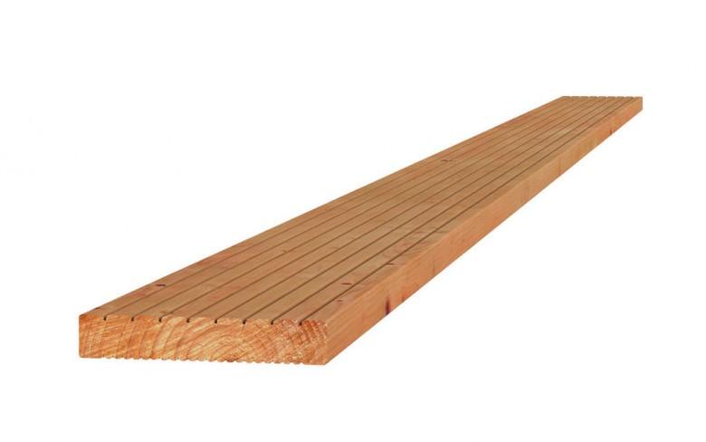 Douglas geprofileerde vlonderplank 2,4x13,8x400 cm blank (Art. 31357)