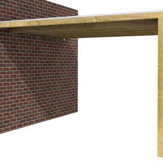 Aanbouw overkapping met diepte 345 cm (Art. 722618)