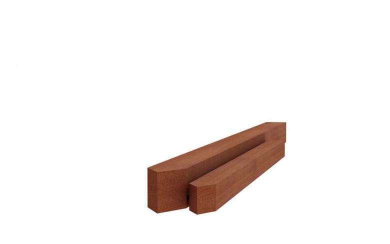 Hardhouten paal gepunt 4x4x100cm (Art, 14210, piketpaaltjes)