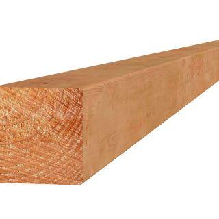 Douglas paal 6,5x6,5x300 cm groen geïmpregneerd (Art. 45855)