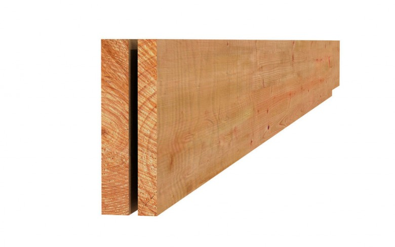 Douglas plank fijnbezaagd 2,2x20x300cm groen geïmpregneerd (Art.44415)