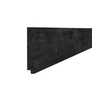 Zweeds rabat Douglas  1,5-3,0 x 19,5 x 400 cm zwart (Art. 40655)