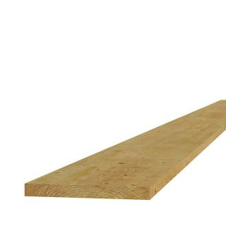 Grenen fijnbezaagde plank 2x20x400cm (Art. 06415)