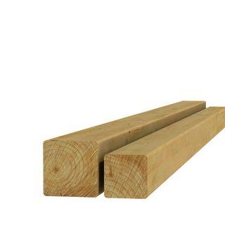 Geschaafde grenen paal 6,8x6,8x240cm (Art. 07009)