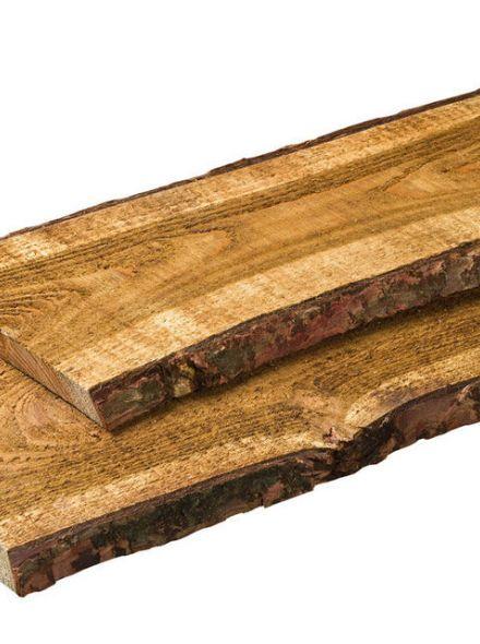 Grenen schaaldeel fijnbezaagd 1,9x12-20x250 cm (Art. 05120)
