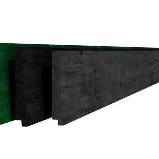 Vuren rabat zwart 1,5-3x19,5x420 cm (Art. 05206)