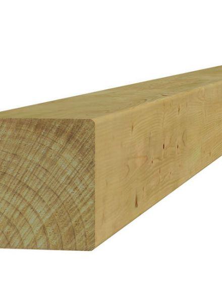 Vierkante vuren paal 12 x 12 x 300 cm (Art. 07125)