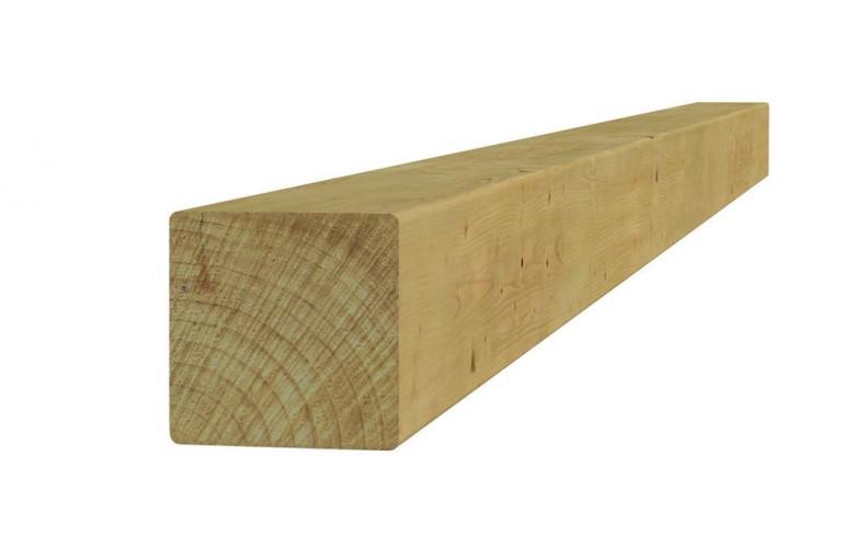 Vierkante vuren paal 12 x 12 x 400 cm (Art. 07126)