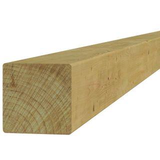 Vierkante vuren paal 12 x 12 x 500 cm (Art. 07127)