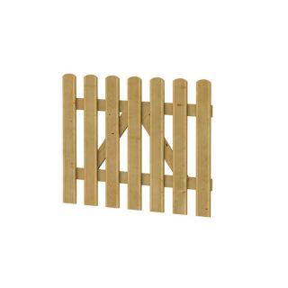Reliëf houten hek poort 100 x 80 cm (Art. 01502)