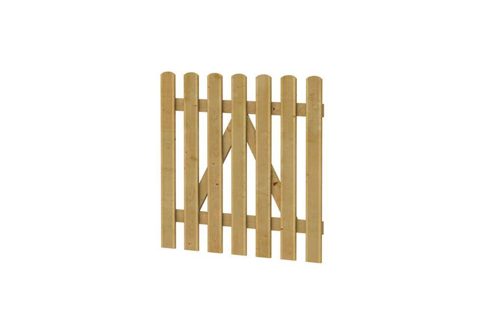 Reliëf houten hek poort 100 x 100 cm (Art. 01503)