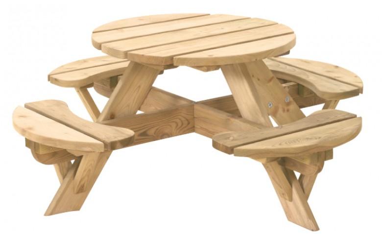 Ronde picknicktafel Jimmy (Art. 11012)