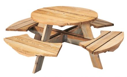 Ronde picknicktafel Mick (Art. 11011)