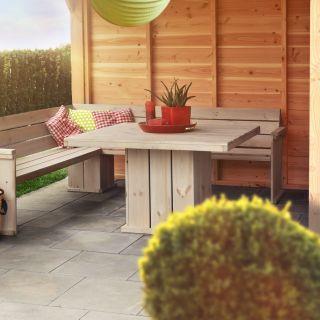 Lounge set met hoekbank Yasmine en Tafel Ismay (Art. 11715)