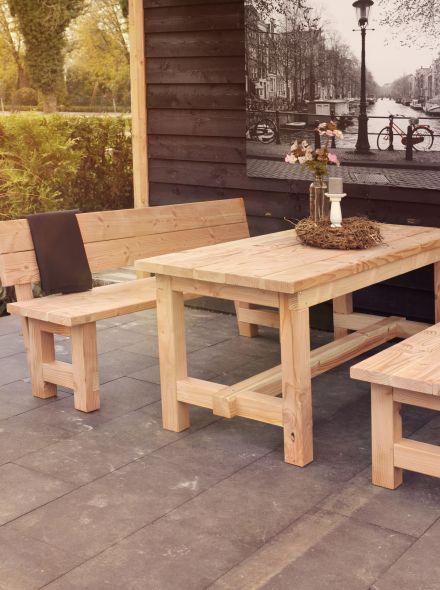 Woodvision | Douglas tafel Tiemen | 200x80x80 cm