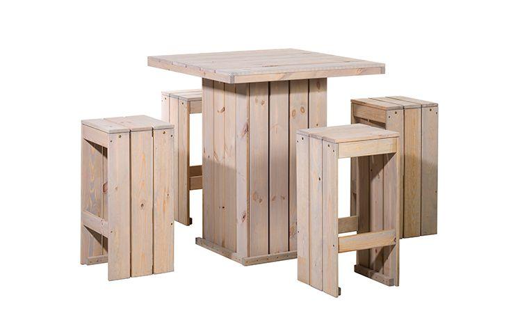 Bartafel set, 4x barkruk, 1x statafel (Art. 11670)