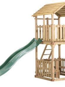 Speelhuis Action met picknickset en glijbaan (Art. 12584 + 12634)