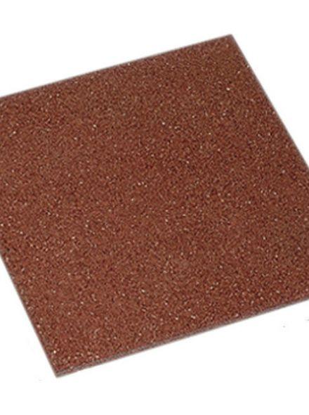 Rubbertegel rood 50x50 cm (Art. 12560)