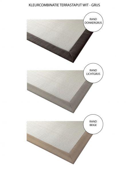 Terrastapijt LuxxOut 200 x 200 cm (Wit - Grijs)