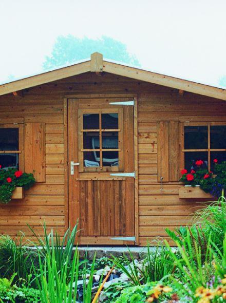 Tuinhuis 3 x 4.5 meter met 1 enkele deur en 2 ramen  De Merel