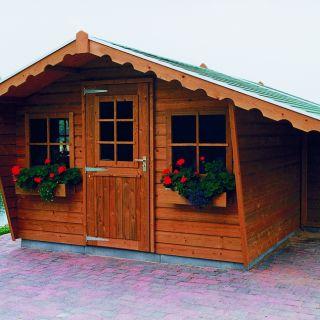 Tuinhuis  De Zilverreiger 3.00 x 1.50m + Luifel 1 meter