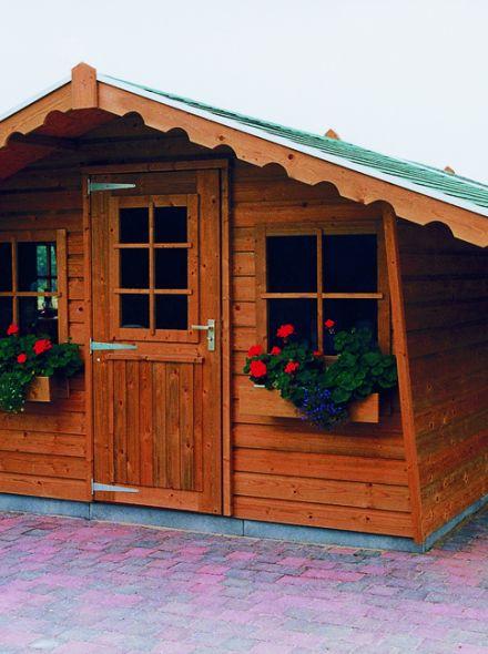 Tuinhuis  De Zilverreiger 3.00 x 2.30m + Luifel 1 meter