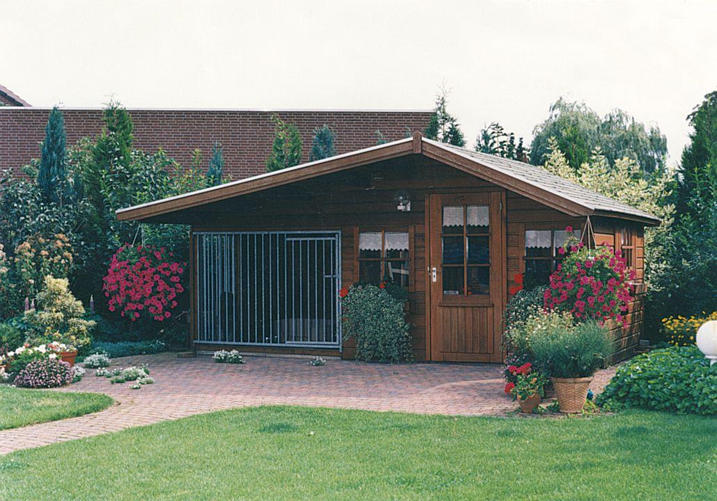 Tuinhuis 3.5 x 2.3 meter (Hondenkennel 2 x 2.3 meter) Bonte Specht