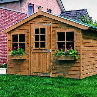 Tuinhuis Met Luifel 3 X 25 Meter De Winterkoning Groen