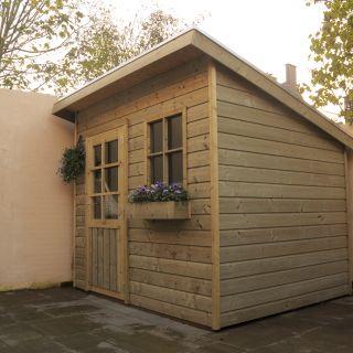 Tuinhuis met lessenaarsdak (2 x 1.5 meter) De Pimpelmees
