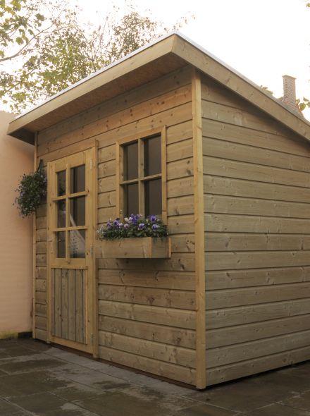 Tuinhuis met lessenaarsdak (2.5 x 2.5 meter) De Pimpelmees