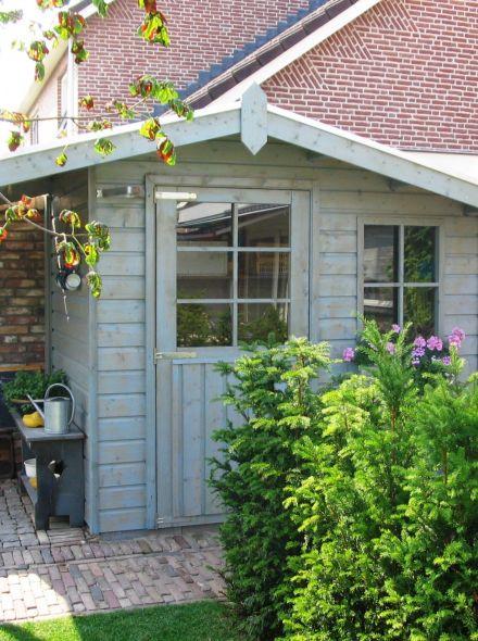 Tuinhuis Waal 01 + zijluifel (Tuinhuis 2,5 x 1,5 meter)