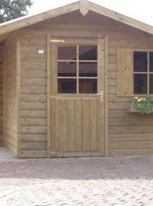 Tuinhuis Waal 02 + zijluifel (Tuinhuis 4 x 2,5 meter)