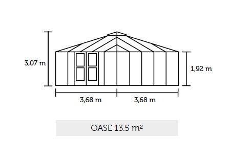 Tuinkamer Oase Blank aluminium (Royal Well Oase)