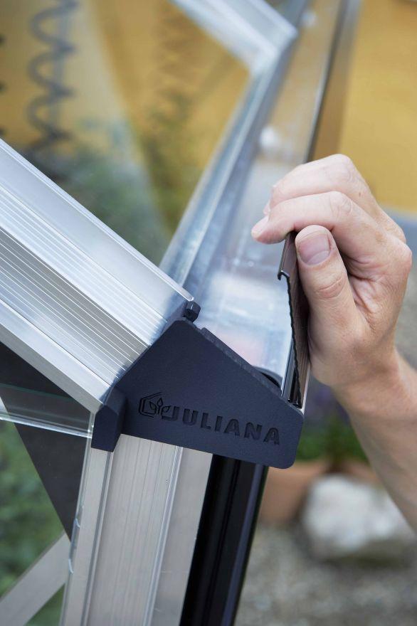 Hobbykas COMPACT 50 blank aluminium (Tuinkas met tuindersglas)