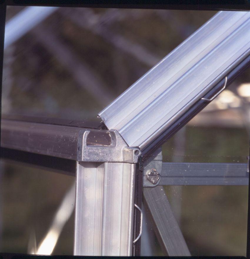 Hobbykas MAGNUM 108, blank aluminium (Tuinkas met tuindersglas)