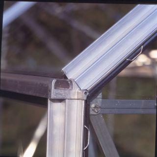 Hobbykas MAGNUM 108. blank aluminium (Tuinkas met veiligheidsglas)