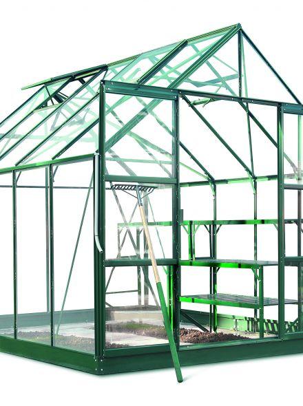 Hobbykas MAGNUM 108, groen gecoat (Tuinkas met veiligheidsglas)