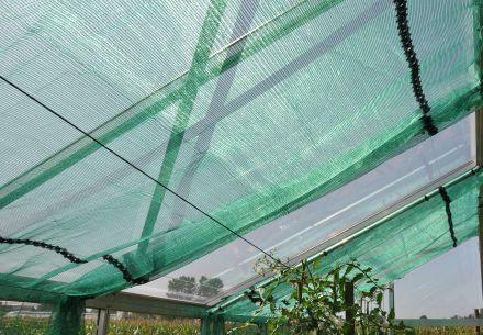 Schermdoek groen breed 400 cm (per m1)
