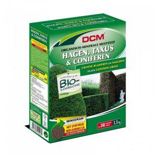 DCM Organische Meststof voor Hagen, Taxus & Coniferen 1500 gram - +/- 30 meter haag