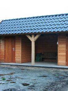 Tuinhuis Rustiek 04 (Tuinhuis van Douglashout 7 x 4 meter met twee bergingen)