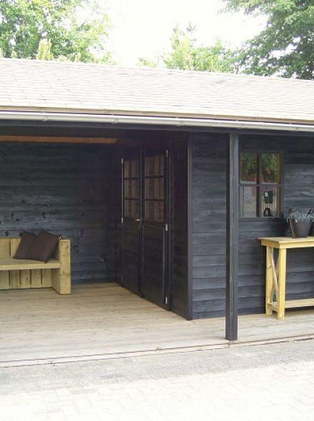 Tuinhuis met veranda Linge 02 (afmeting 6 x 4 meter)