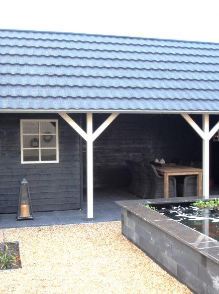 Tuinhuis met veranda Linge 04 (afmeting 8 x 4 meter)