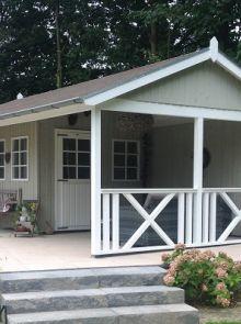 Tuinhuis met veranda Linge 05 (afmeting 6 x 4 meter)