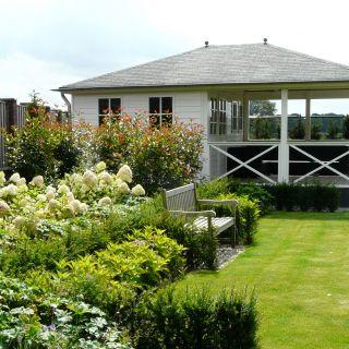 Tuinhuis met veranda Mississippi 01 (afmeting 6,5 x 5 meter)