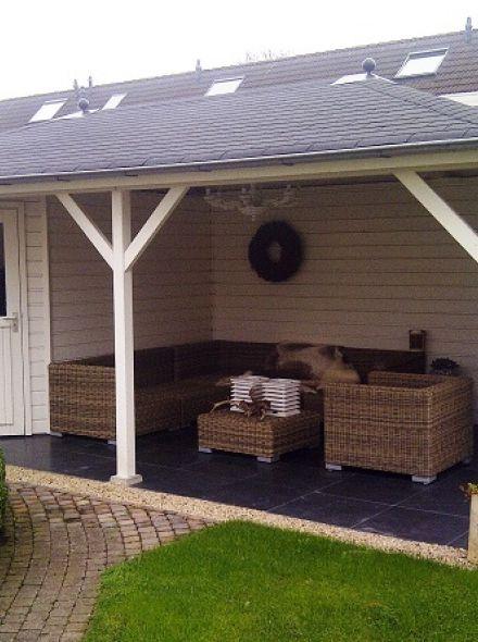 Tuinhuis met veranda Mississippi 02 (afmeting 6,5 x 3,5 meter)