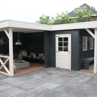 Tuinhuis met veranda IJssel 11 (afmeting 6 x 7 meter)