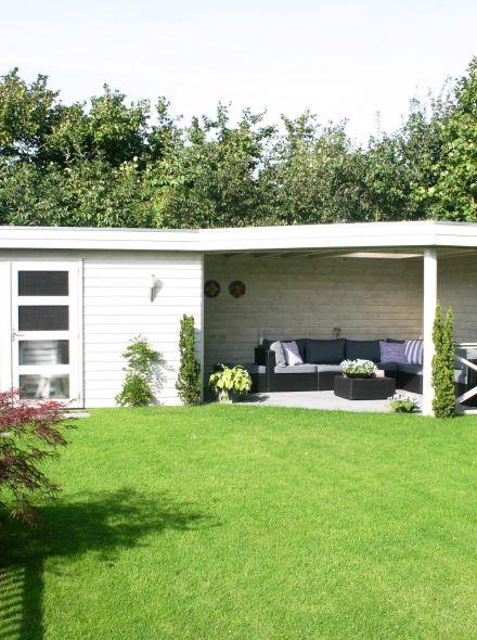 Tuinhuis met veranda IJssel 12 (afmeting 9 x 4 meter)
