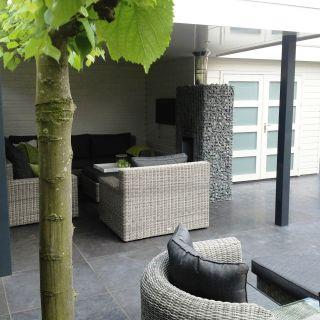 Tuinhuis met veranda IJssel 13 (afmeting 6,5 x 4,75 meter)