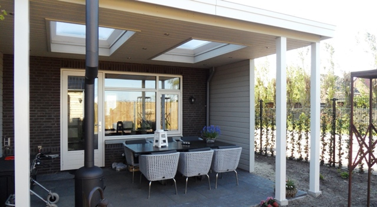 Houten veranda 04 veranda 5 5 x 3 75 meter for Houten veranda